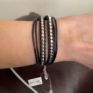 Black & Silver wrap bracelet - very stylish NWT